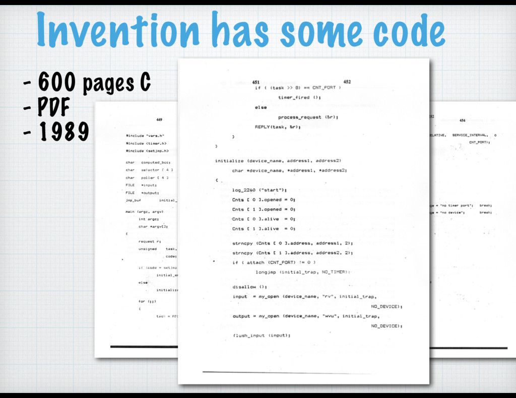 Invention has some code - 600 pages C - PDF - 1...