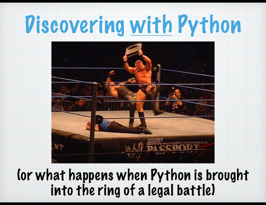 Discovering with Python (or what happens when P...