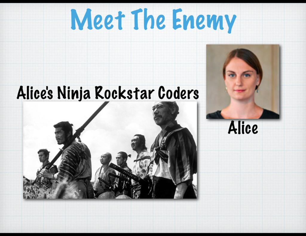 Meet The Enemy Alice Alice's Ninja Rockstar Cod...