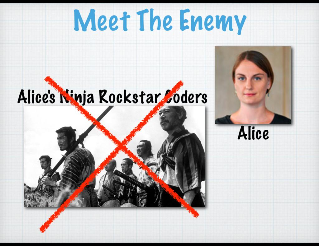 Alice's Ninja Rockstar Coders Meet The Enemy Al...