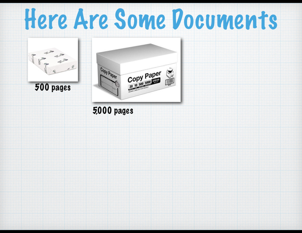 500 pages 5,000 pages Here Are Some Documents