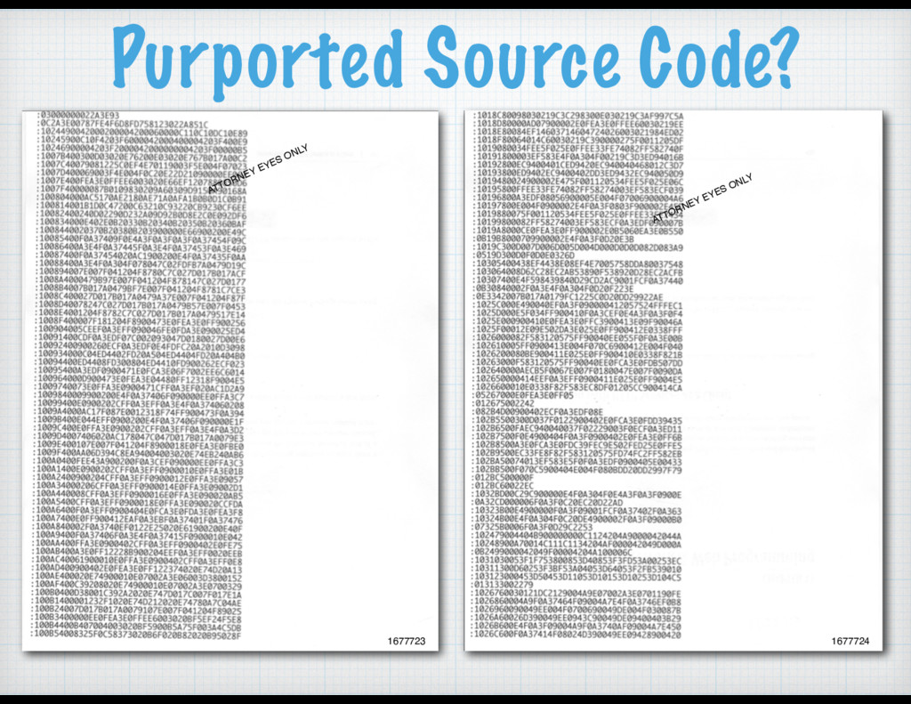 Purported Source Code? ATTORNEY EYES ONLY ATTOR...