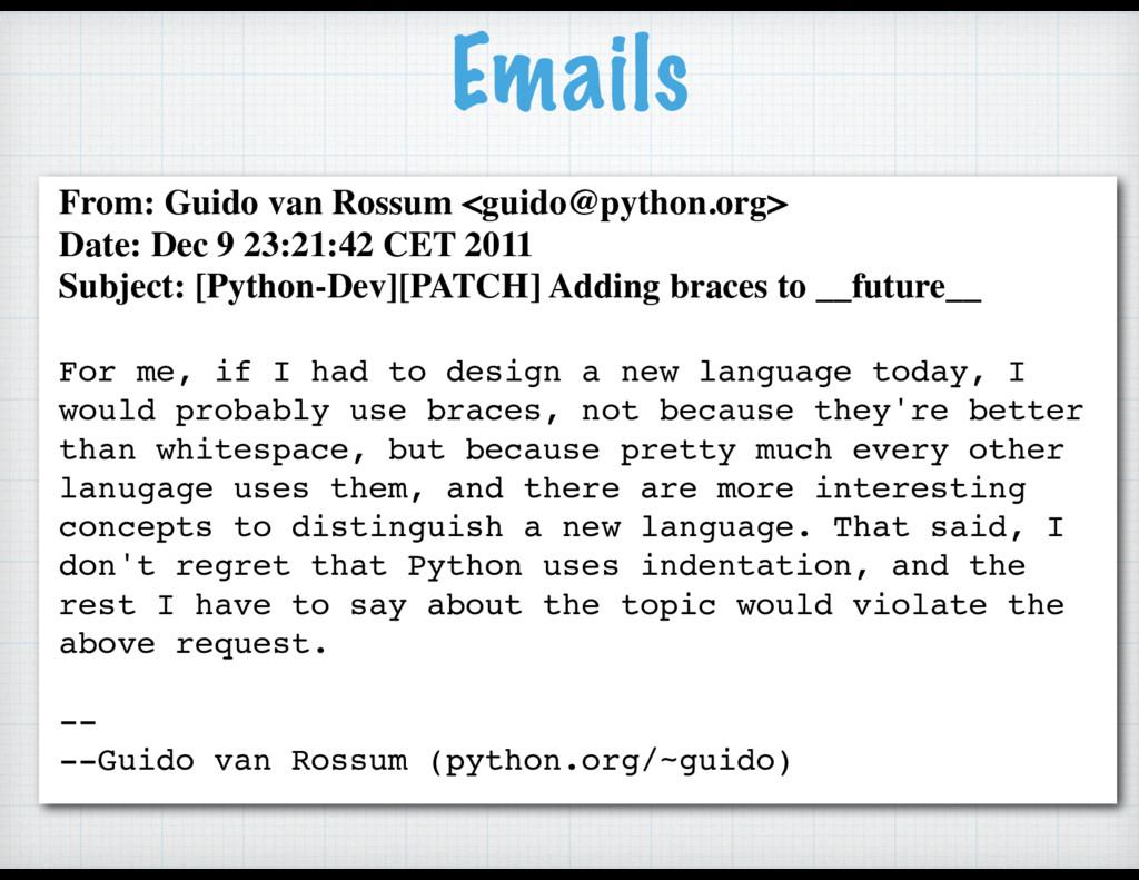 From: Guido van Rossum <guido@python.org> Date:...