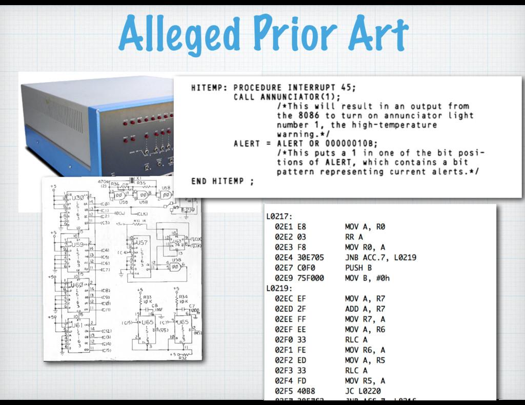Alleged Prior Art