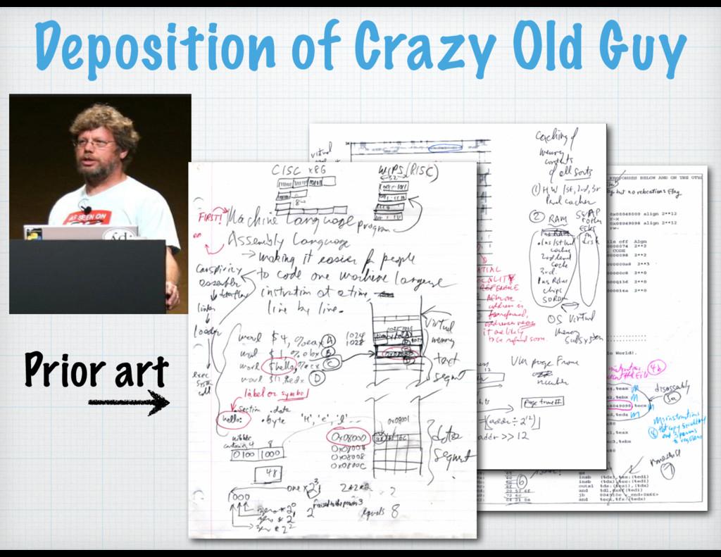 Deposition of Crazy Old Guy Prior art