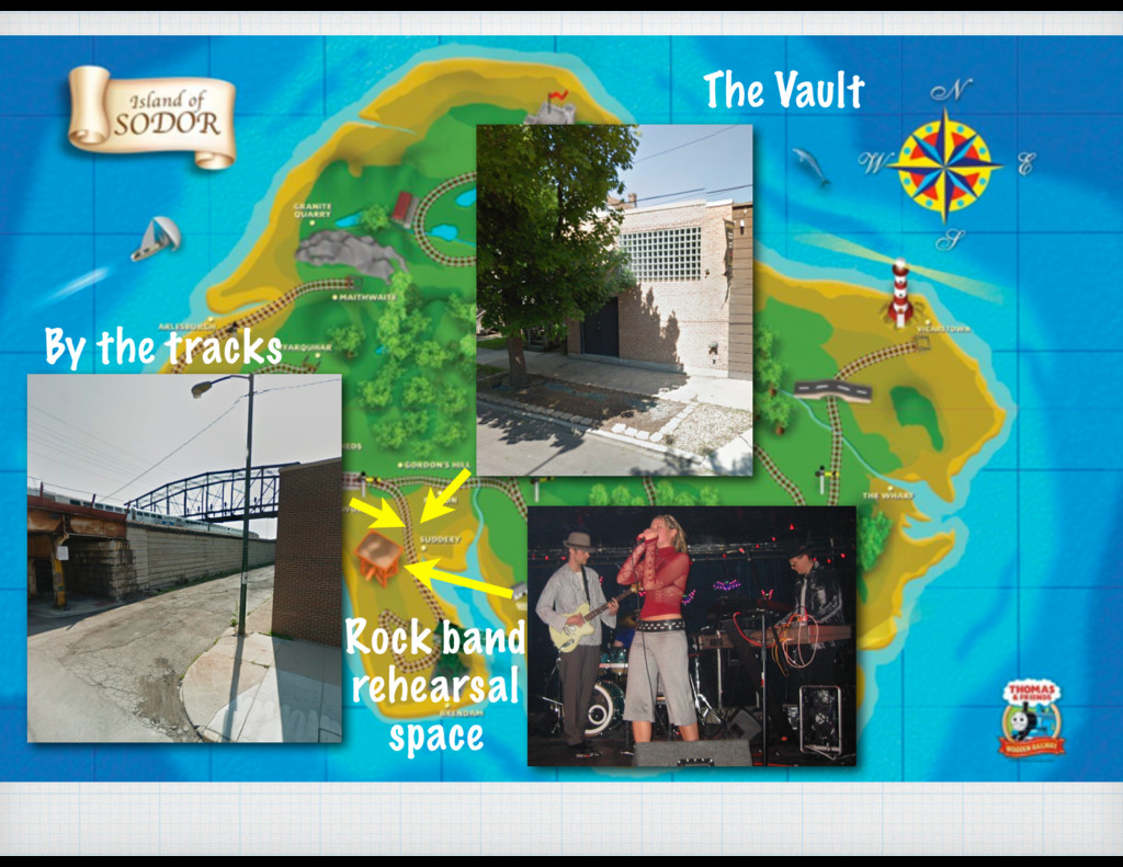The Vault By the tracks Rock band rehearsal spa...
