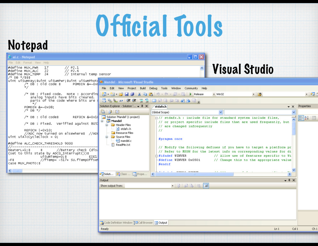 Official Tools Notepad Visual Studio