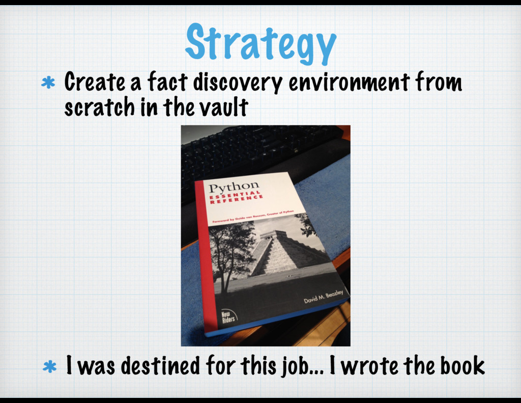Strategy Create a fact discovery environment fr...