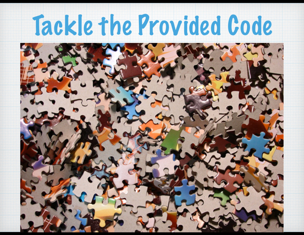 Tackle the Provided Code