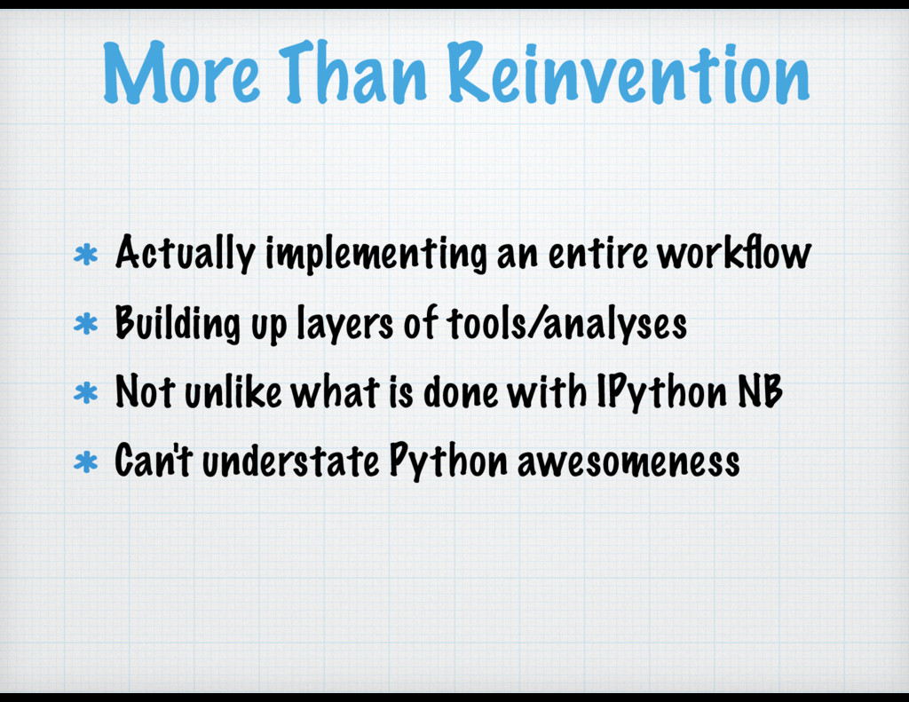 More Than Reinvention Actually implementing an ...