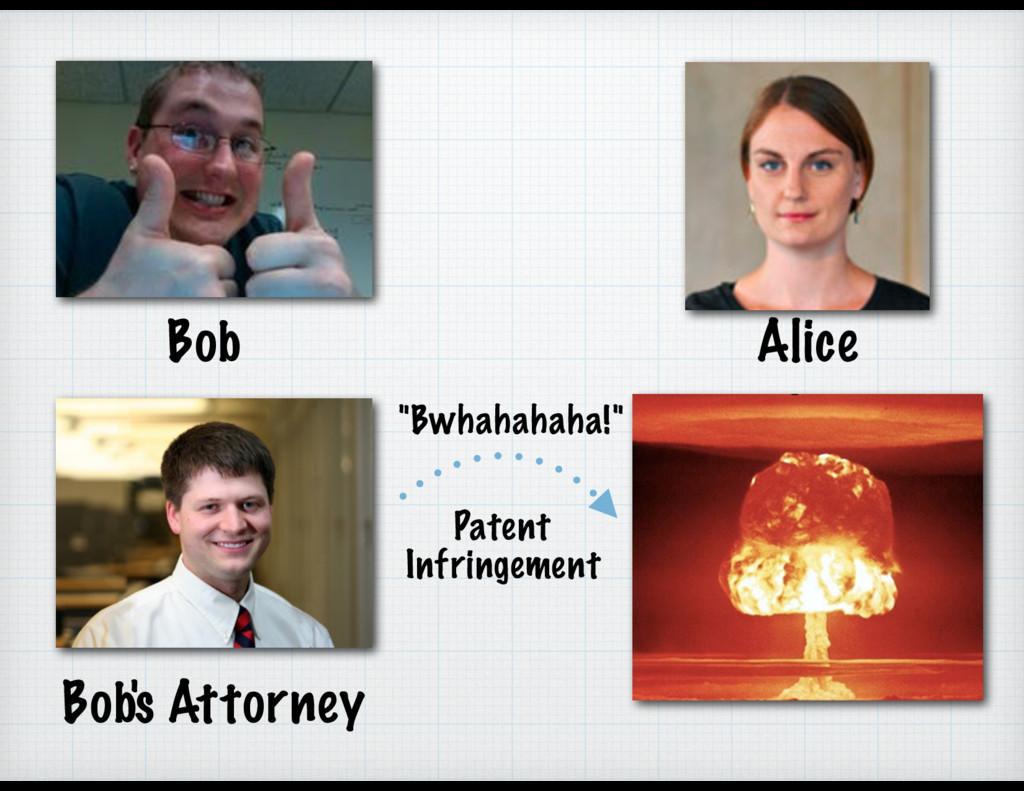 """Alice Bob Bob's Attorney """"Bwhahahaha!"""" Patent I..."""