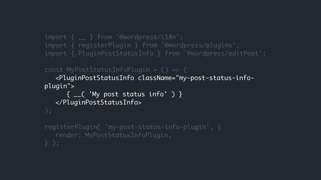 import { __ } from '@wordpress/i18n'; import { ...