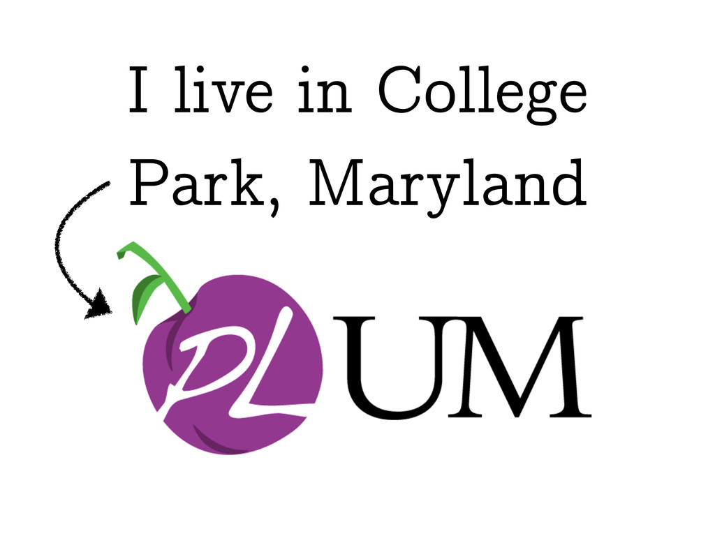 I live in College Park, Maryland