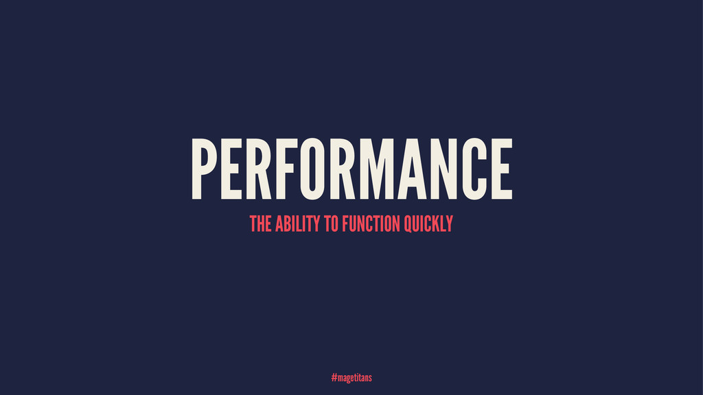 PERFORMANCE THE ABILITY TO FUNCTION QUICKLY #ma...