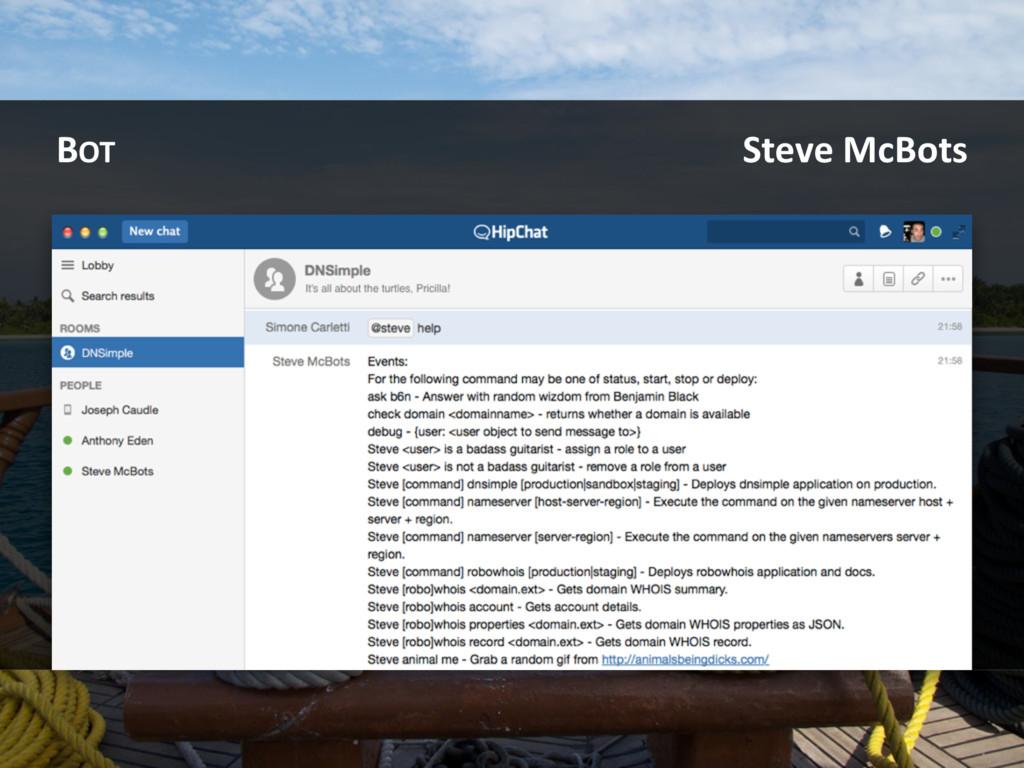 BOT Steve McBots