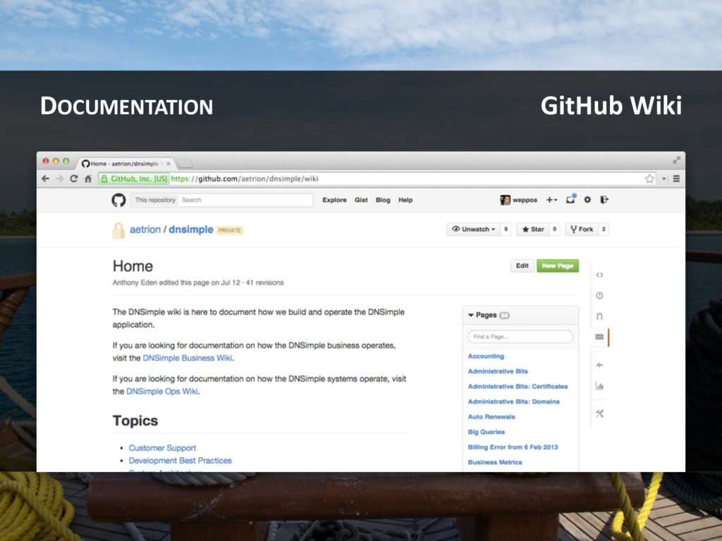 DOCUMENTATION GitHub Wiki