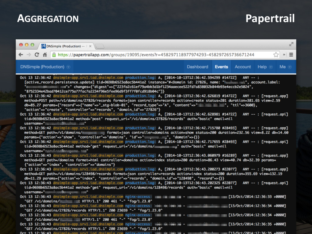 AGGREGATION Papertrail