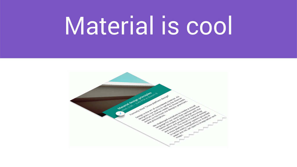 Material is cool