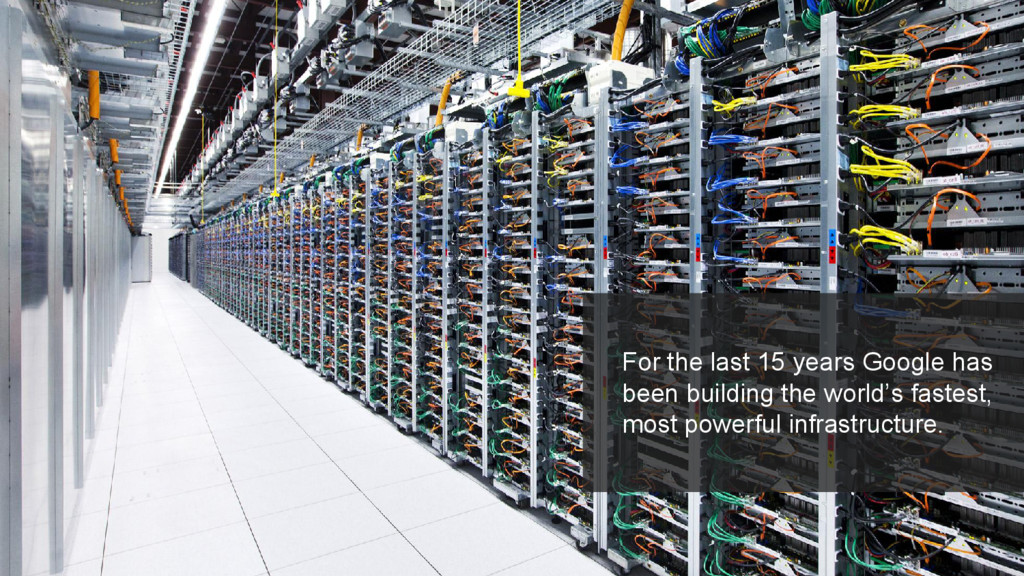 For the last 15 years Google has been building ...