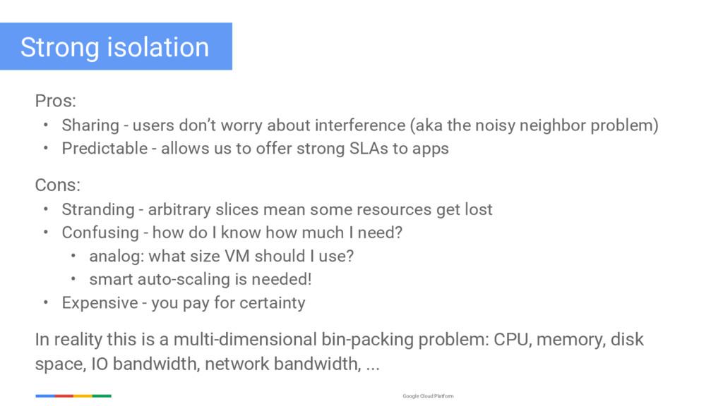 Google Cloud Platform Pros: • Sharing - users d...