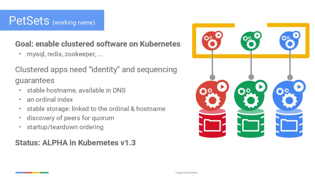 Google Cloud Platform PetSets (working name) Go...