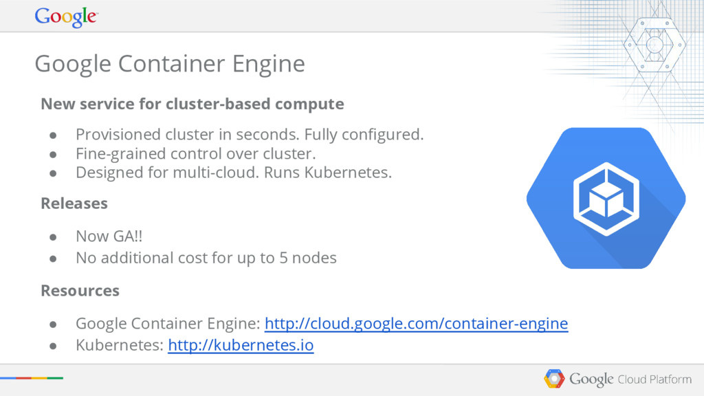 Google Container Engine New service for cluster...