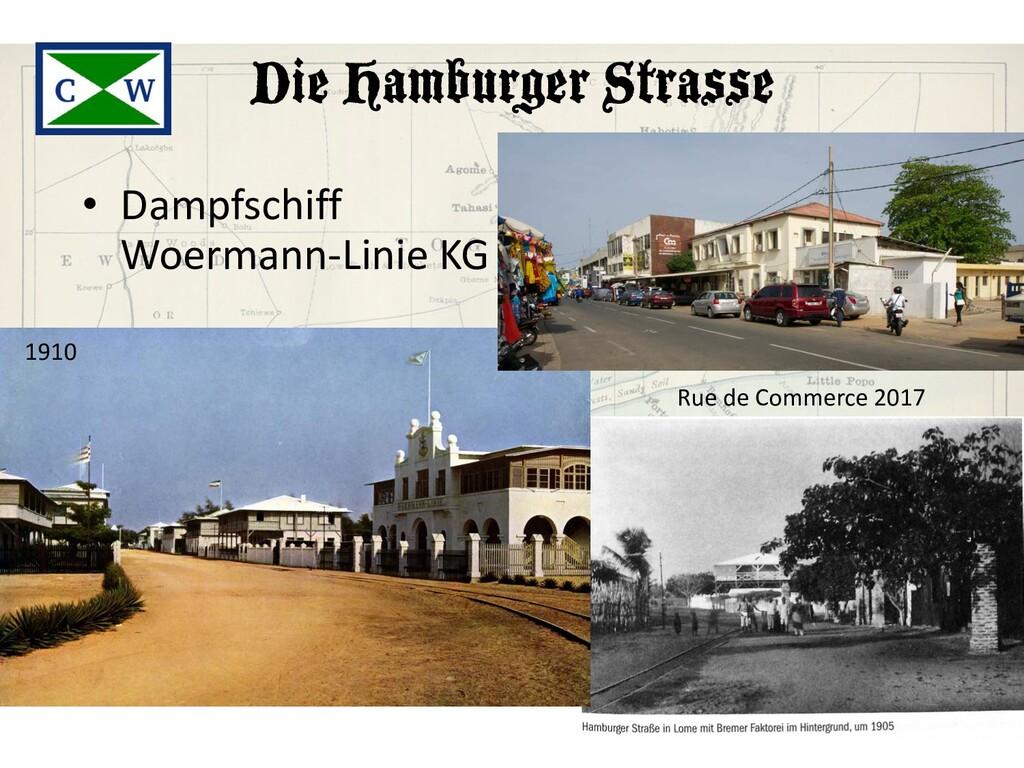 Die Hamburger Strasse • Dampfschiff Woermann-Li...