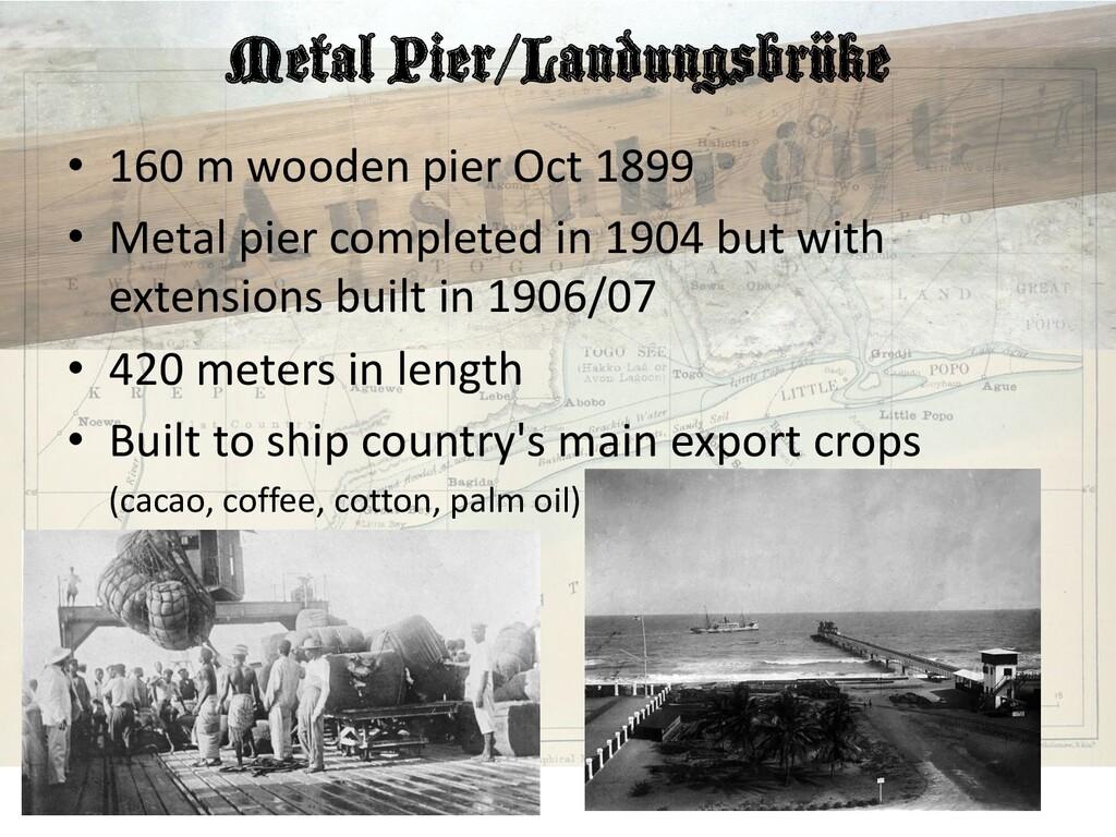 Metal Pier/Landungsbrüke • 160 m wooden pier Oc...