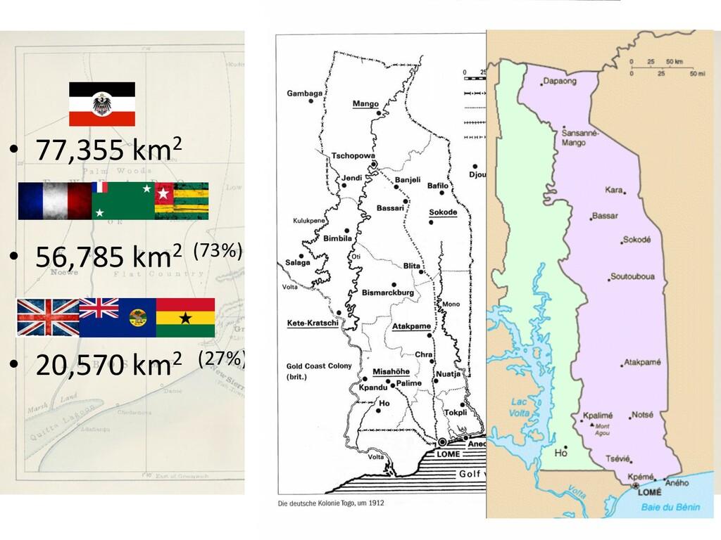 • 77,355 km2 • 56,785 km2 (73%) • 20,570 km2 (2...