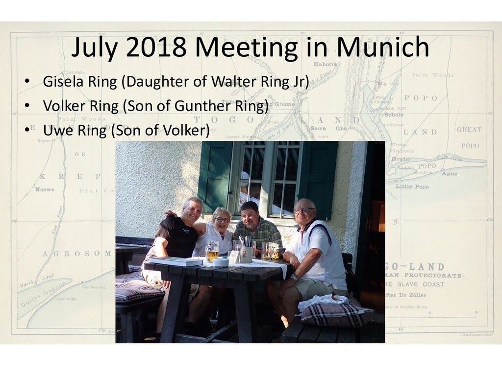 July 2018 Meeting in Munich • Gisela Ring (Daug...