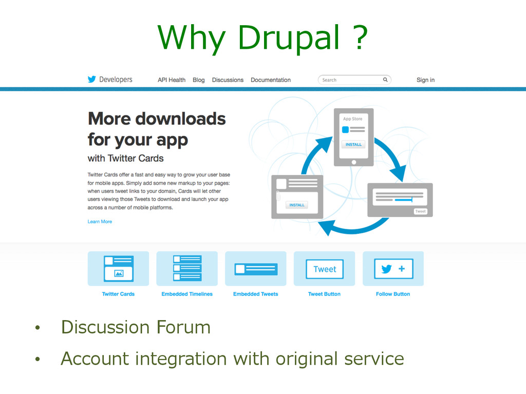 Why Drupal ? • Discussion Forum • Account ...