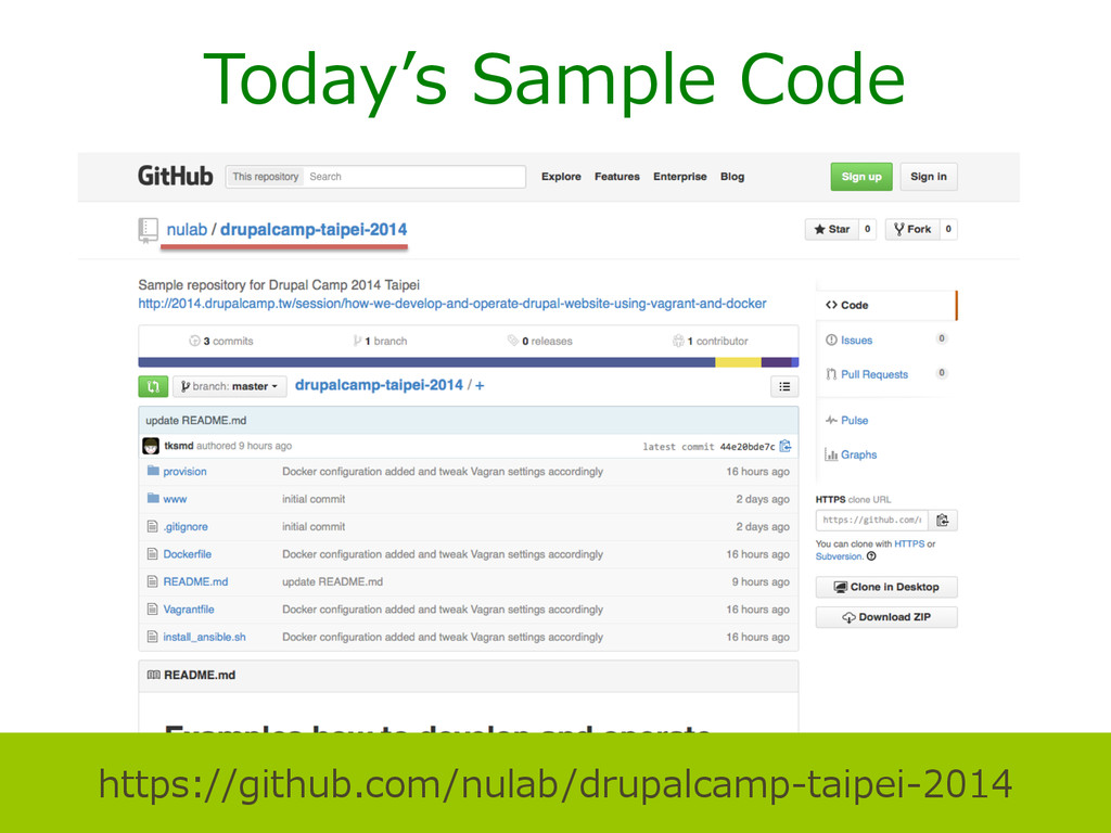 Today''s Sample Code https://github.com/nulab...