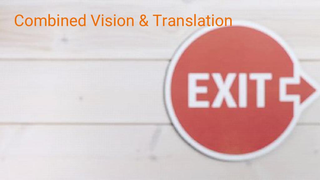 Combined Vision & Translation