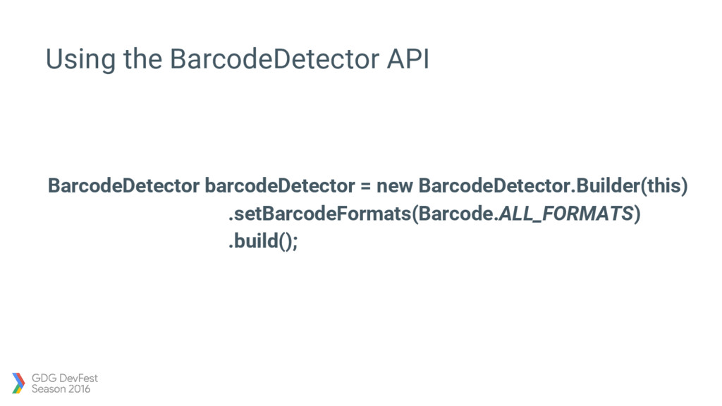 Using the BarcodeDetector API BarcodeDetector b...