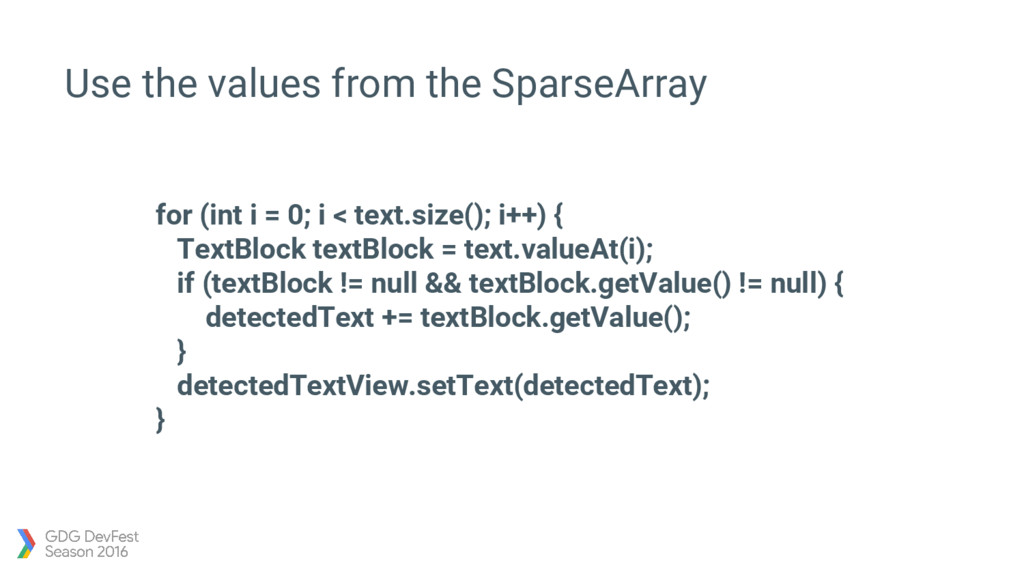 for (int i = 0; i < text.size(); i++) { TextBlo...