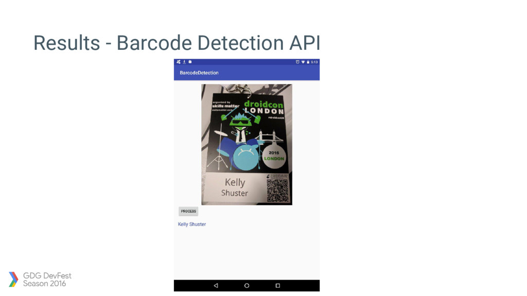 Results - Barcode Detection API