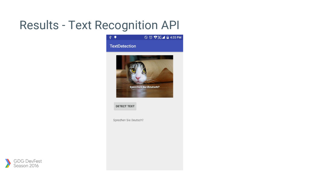 Results - Text Recognition API