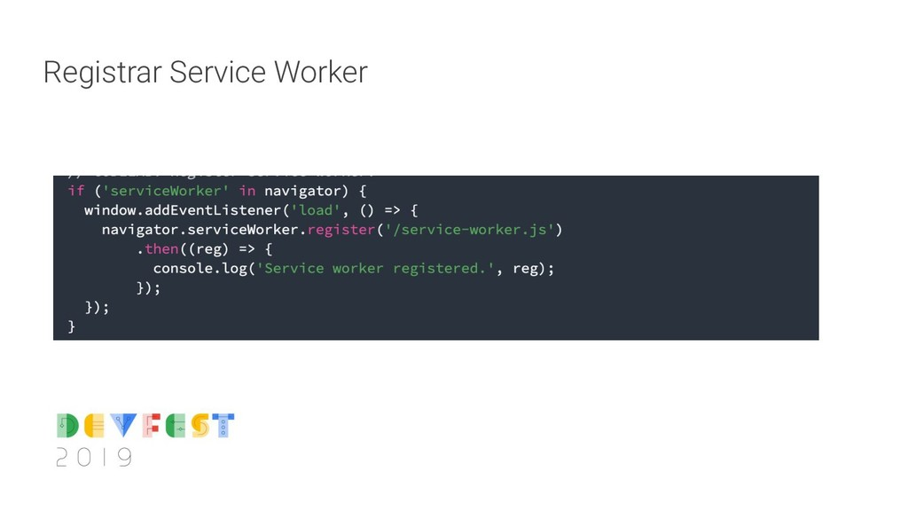 Registrar Service Worker