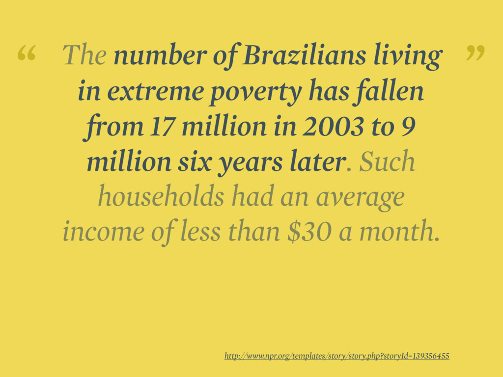 The number of Brazilians living in extreme pove...
