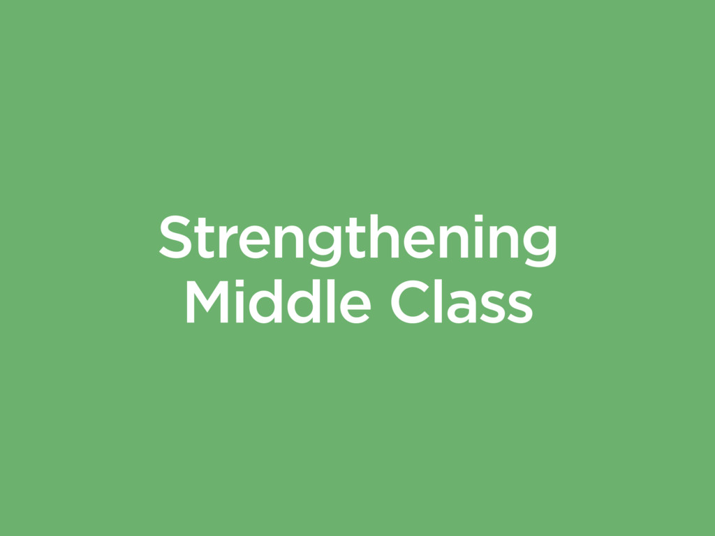Strengthening Middle Class
