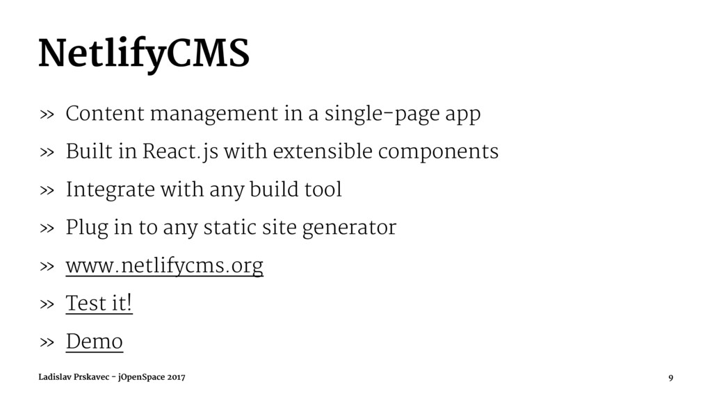 NetlifyCMS » Content management in a single-pag...