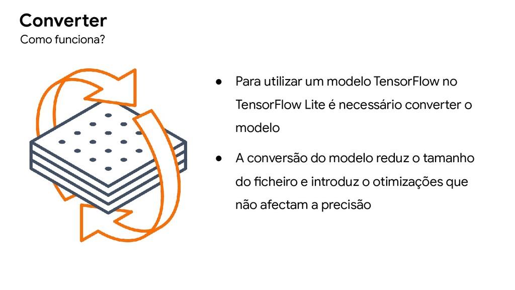 ● Para utilizar um modelo TensorFlow no TensorF...