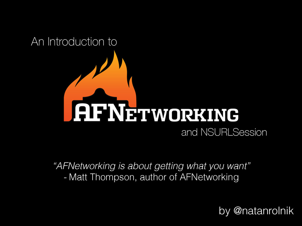 """An Introduction to """"AFNetworking is about getti..."""