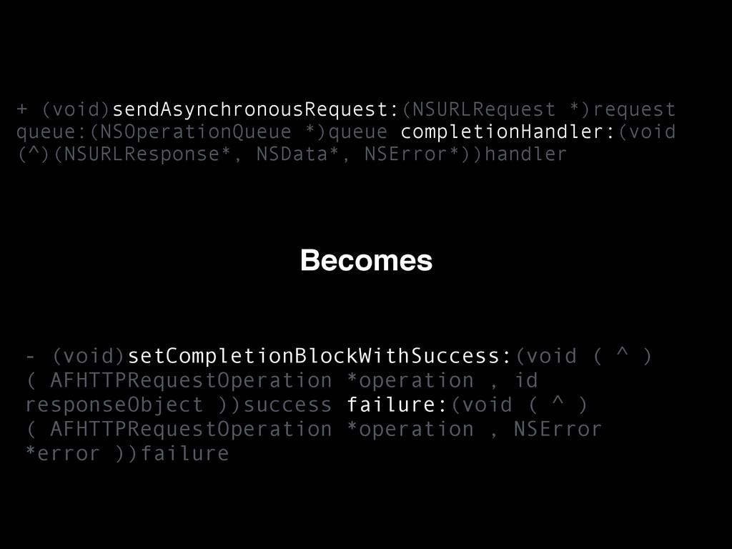 + (void)sendAsynchronousRequest:(NSURLRequest *...