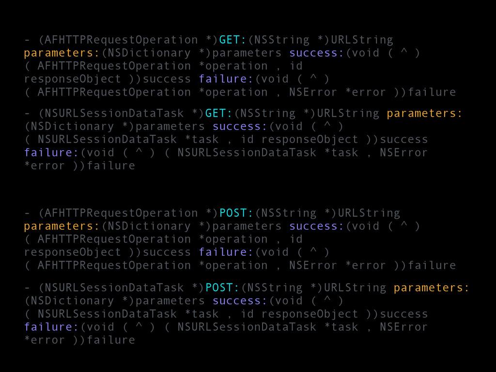- (NSURLSessionDataTask *)GET:(NSString *)URLSt...