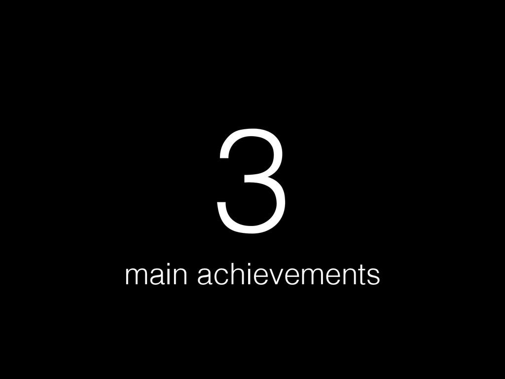 main achievements 3
