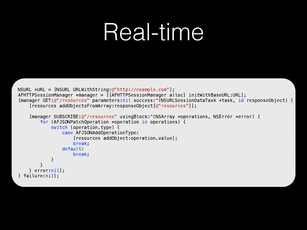 """Real-time NSURL *URL = [NSURL URLWithString:@""""h..."""
