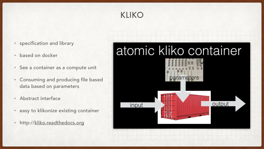 KLIKO • specification and library • based on do...
