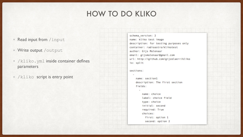 HOW TO DO KLIKO • Read input from /input • Writ...