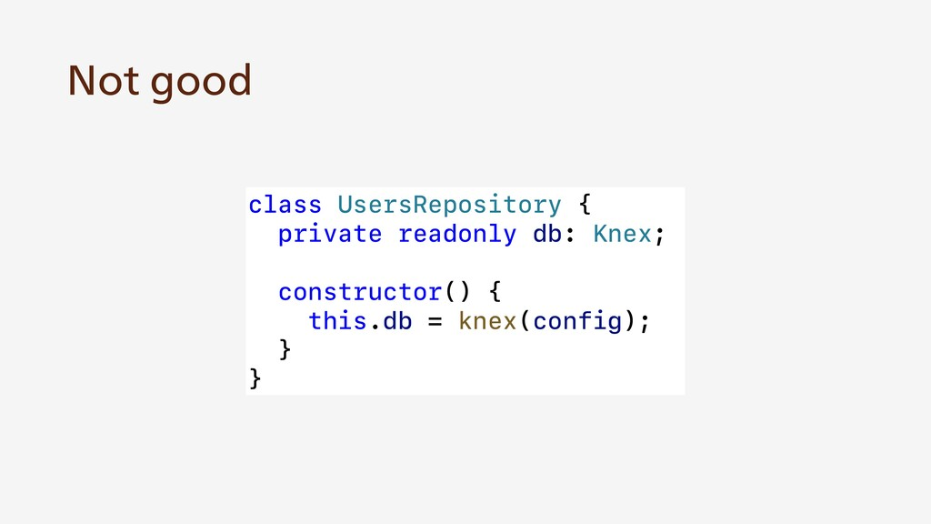 class UsersRepository { private readonly db: Kn...